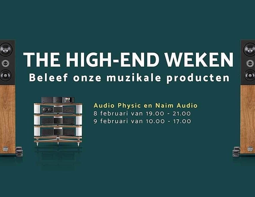 The Hifi Studio Number One organiseert op 8 en 9 februari in het kader van de High-End weken een Audio Physic Structure en Naim Audio weekend.