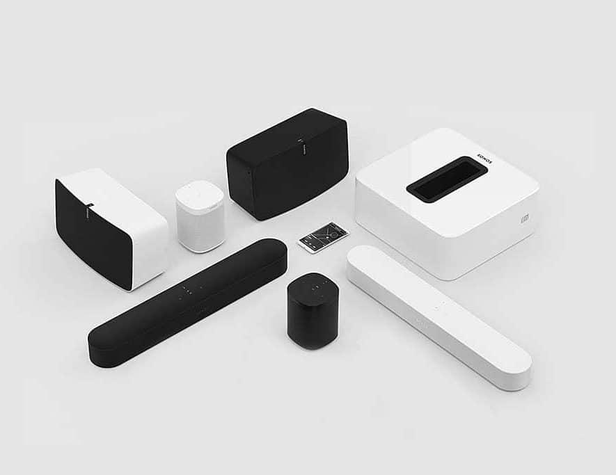 Momenteel levert Sonos alleen nog speakers en soundbars, waarschijnlijk komen daar vanaf volgend jaar hoofdtelefoons bij