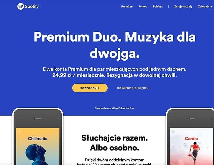Spotify probeert Premium Duo abonnement uit