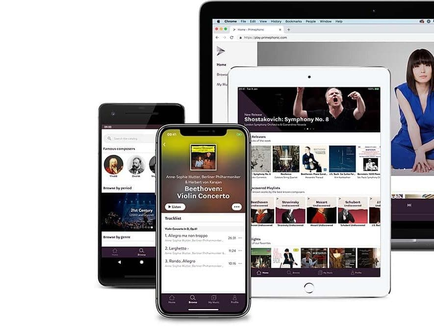 Primephonic laat gebruikers tracks downloaden