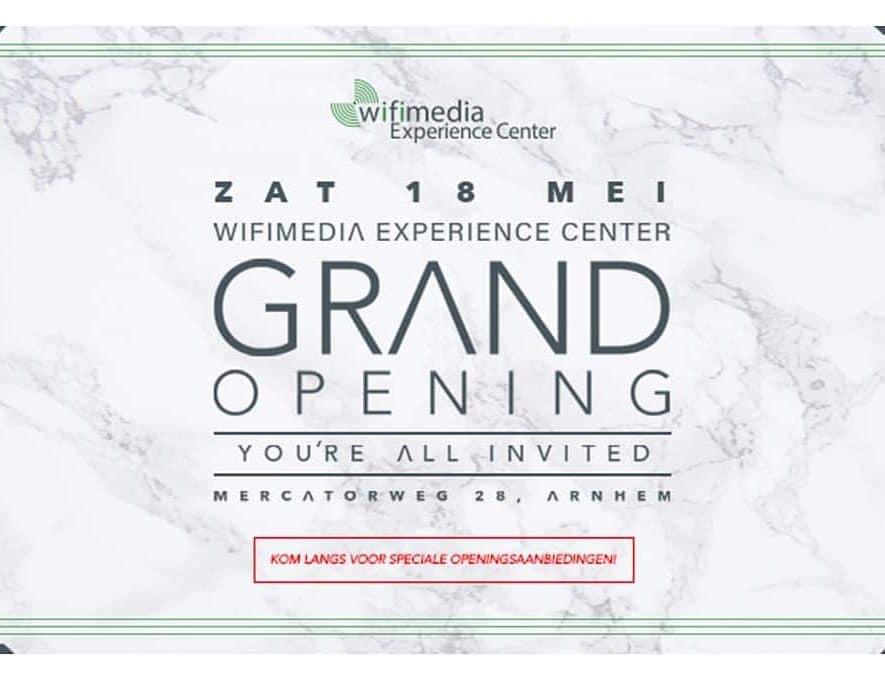 Zaterdag 18 mei is de 'grand opening' van de nieuwe Wifimedia locatie, inclusief speciale acties en aanbiedingen